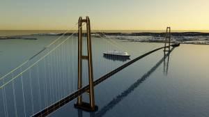 Bro Horten–Moss: Trolig en av de mest lønnsomme broene broene vi kan bygge. Illustrasjon Sweco.