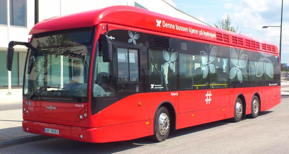 Renere byluft: Hydrogendrevne busser er allerede i drift i Oslo.