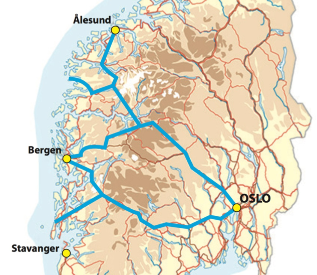 E134 med bergensarm i kombinasjon med satsing på R52 Hemsedal som vei nummer to ikke bare gir den beste og i særklasse mest lønnsomme forbindelsen mellom Bergen og Oslo, men i tillegg også betjener klart flest andre transportbrukere i både øst og vest.